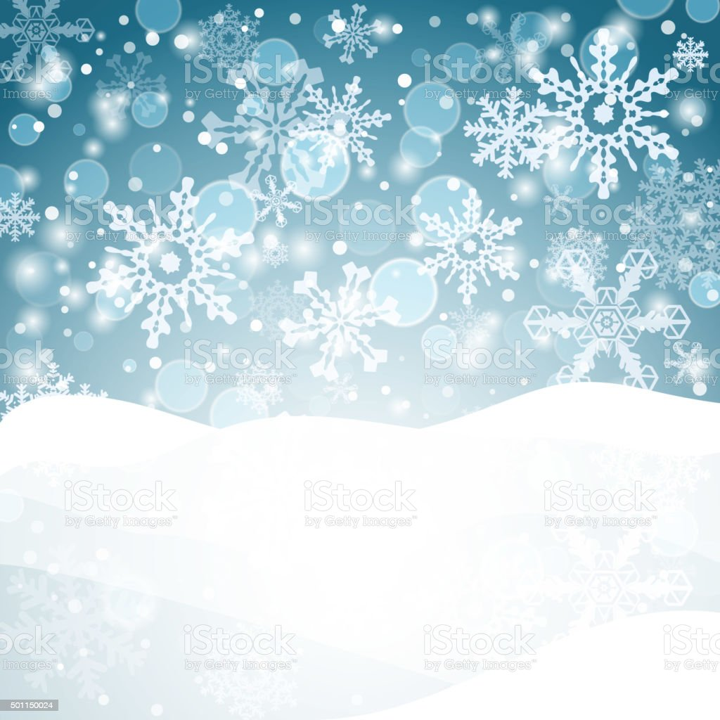 Winter background with snow. Christmas snow banner. Vector vector art illustration