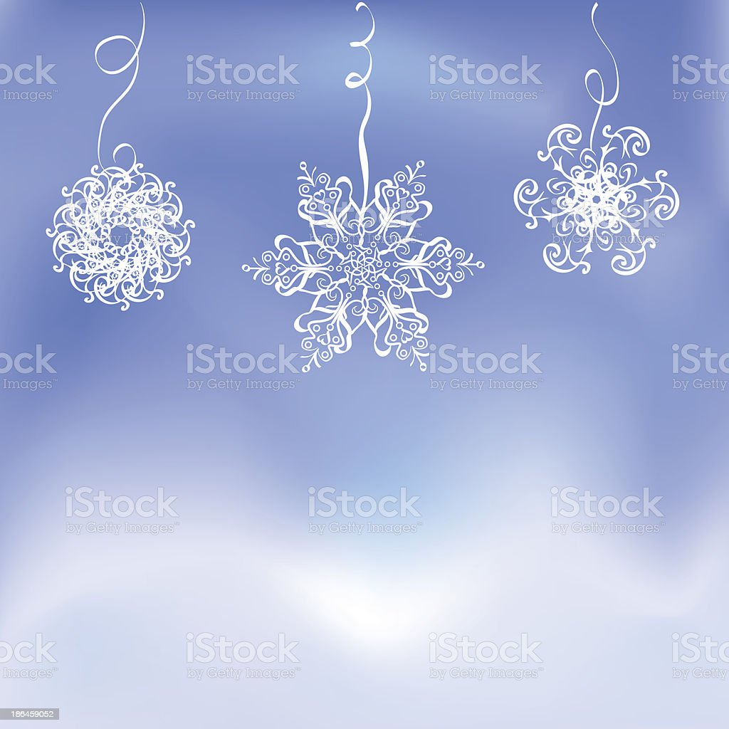 winter background with snowflakes royalty-free stock vector art