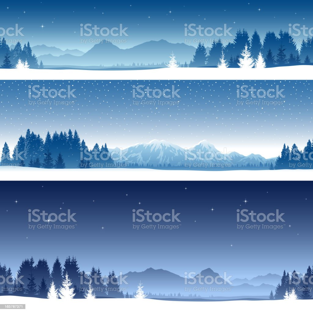 Winter Banner Backgrounds vector art illustration
