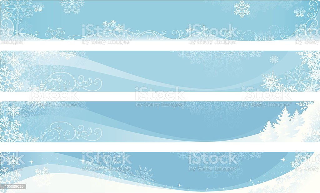Winter banners royalty-free stock vector art