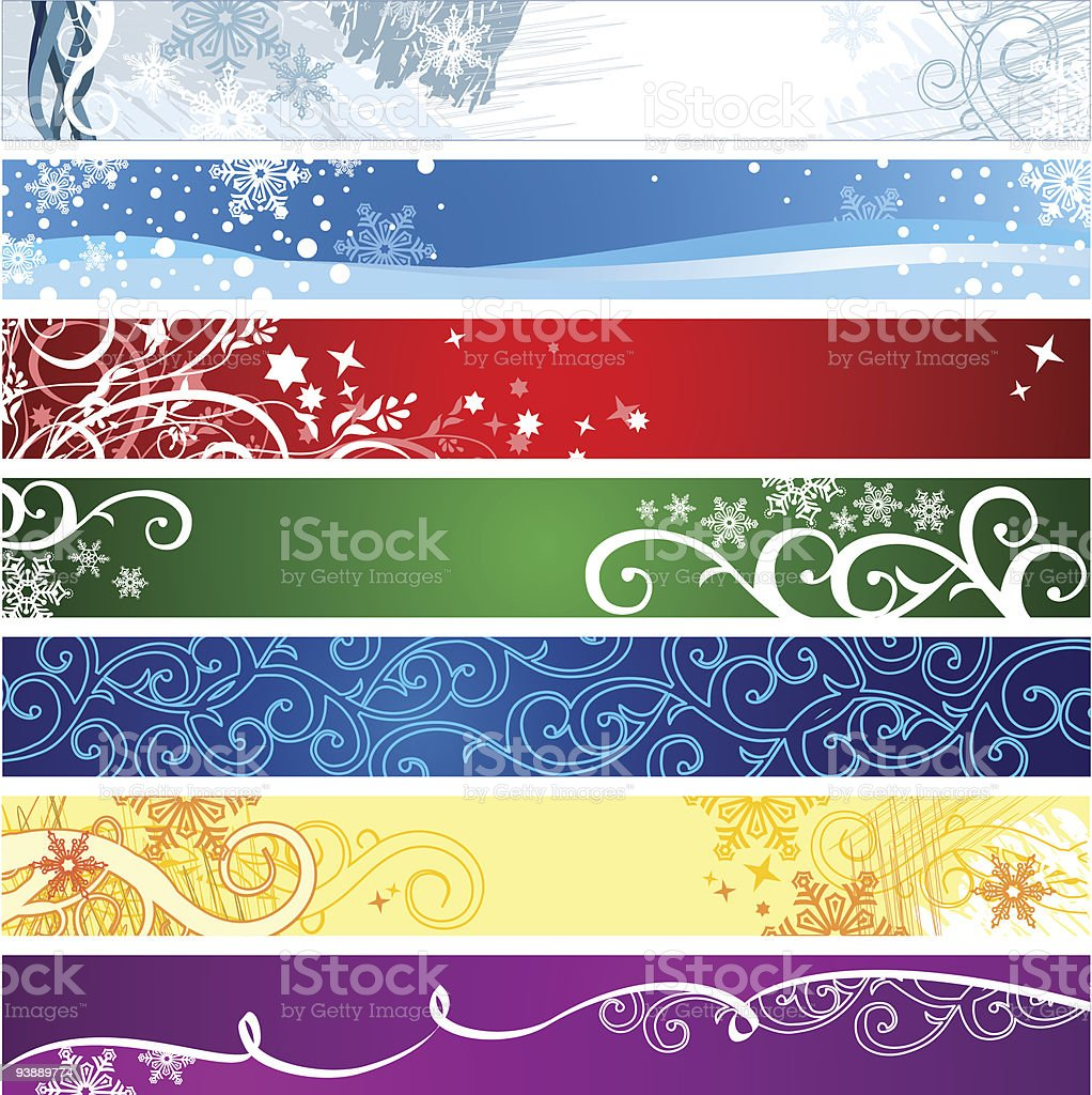 Winter banners  with space for your text / vector royalty-free stock vector art