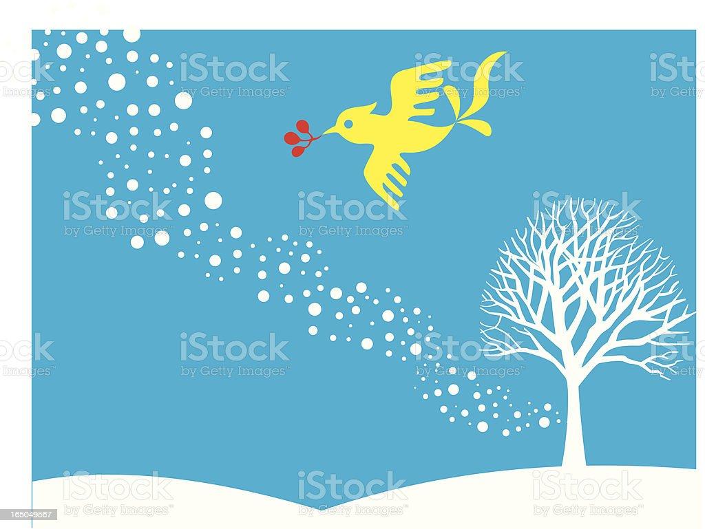 Winter Bird royalty-free stock vector art