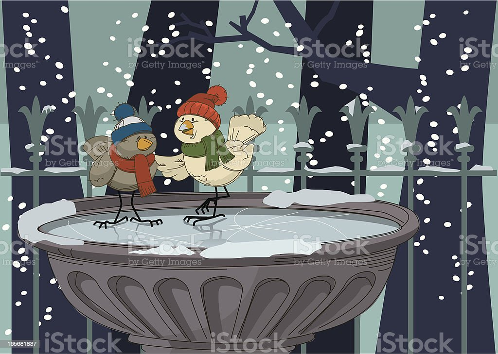 winter birds royalty-free stock vector art
