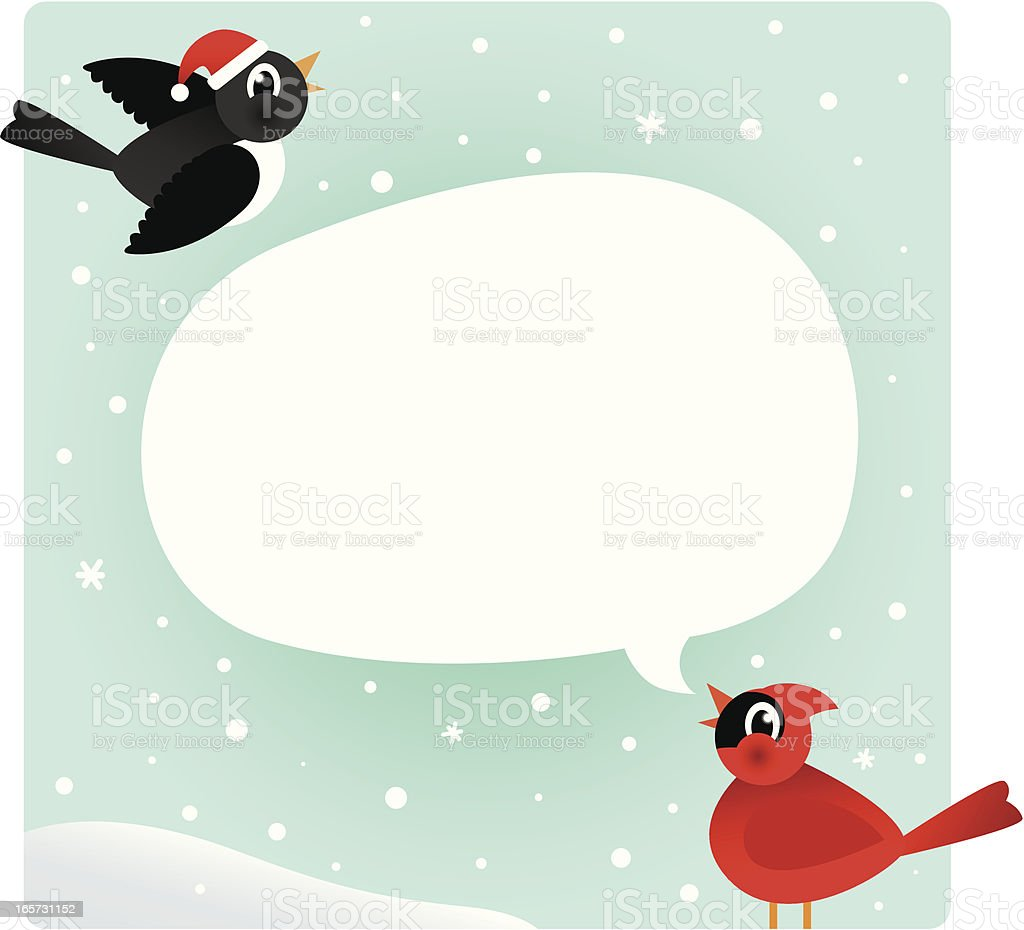 Winter Birds royalty-free stock vector art