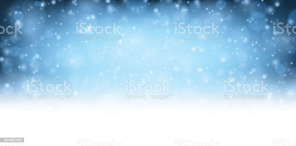 Winter blue shining background. vector art illustration
