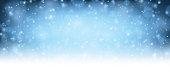 Winter blue shining background.