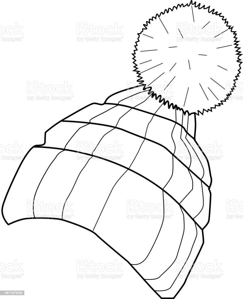 winter cap vector art illustration