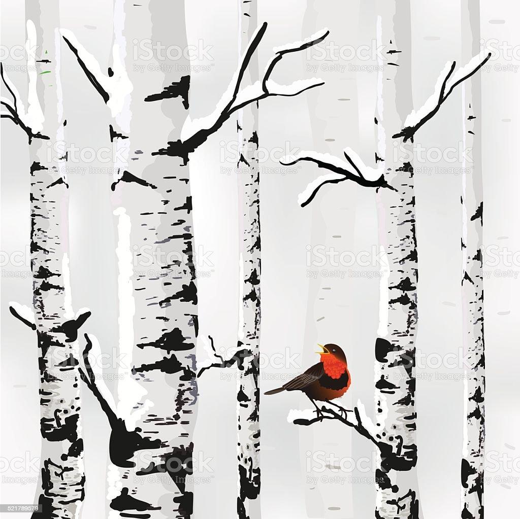 Winter card in vector vector art illustration