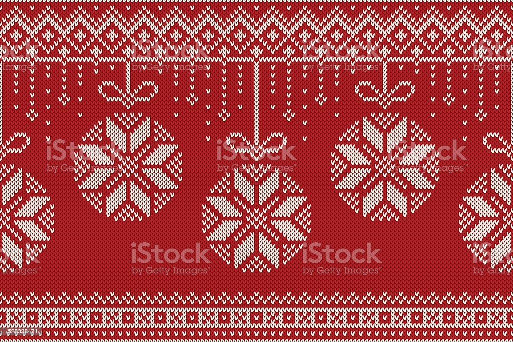 Winter Christmas and New Year Holiday Seamless Knitting Pattern vector art illustration