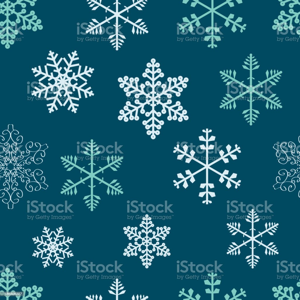 Winter christmas new year seamless pattern /beautiful texture with snowflakes vector art illustration