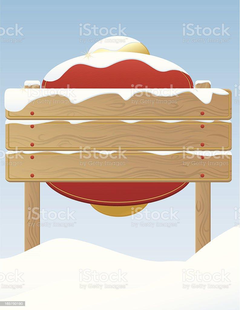 Winter, Weihnachten Zeichen auf verschneiten (kaltes Wetter Lizenzfreies vektor illustration