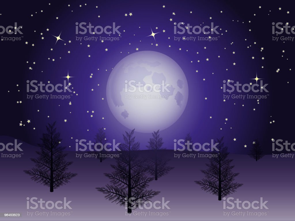 winter christmas trees royalty-free stock vector art