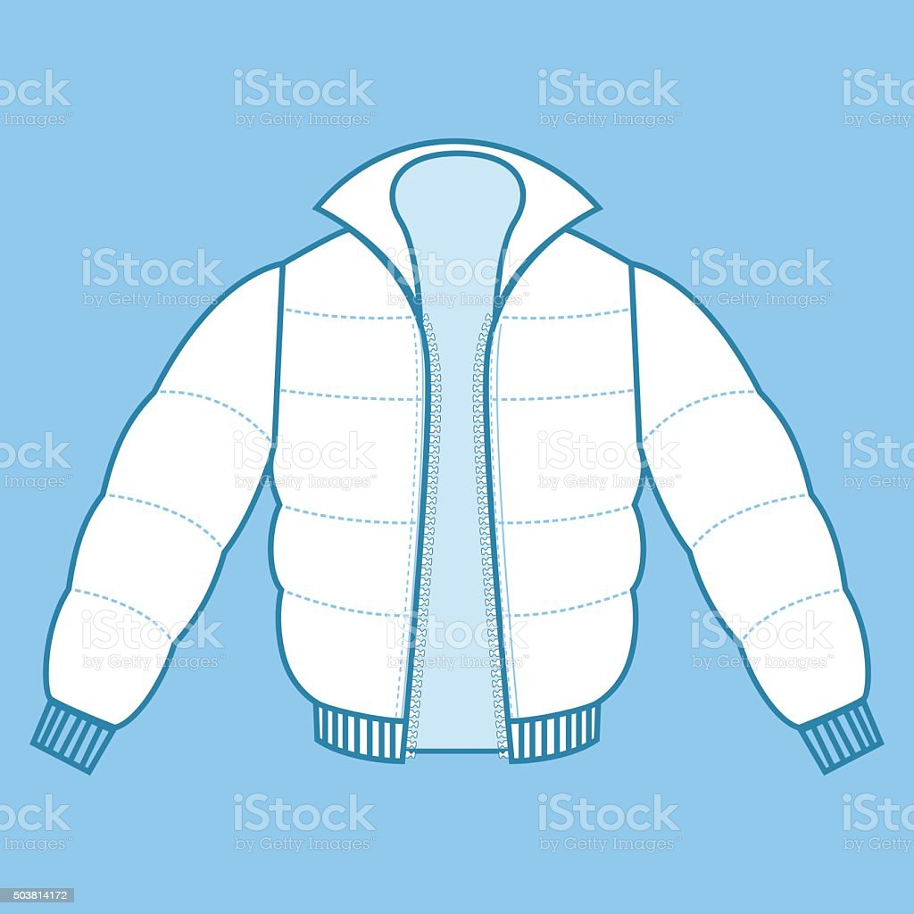 Winter Coat Fashion Flat vector art illustration
