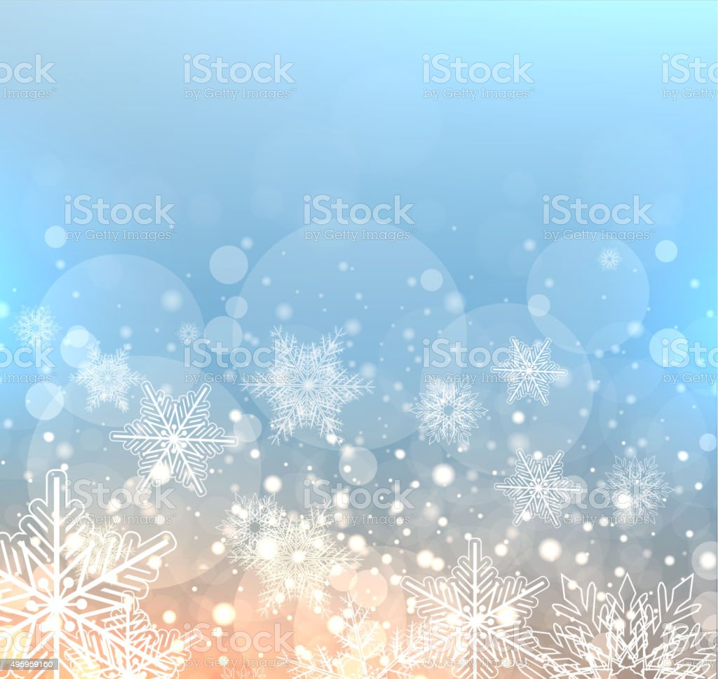 Winter elegant background vector art illustration