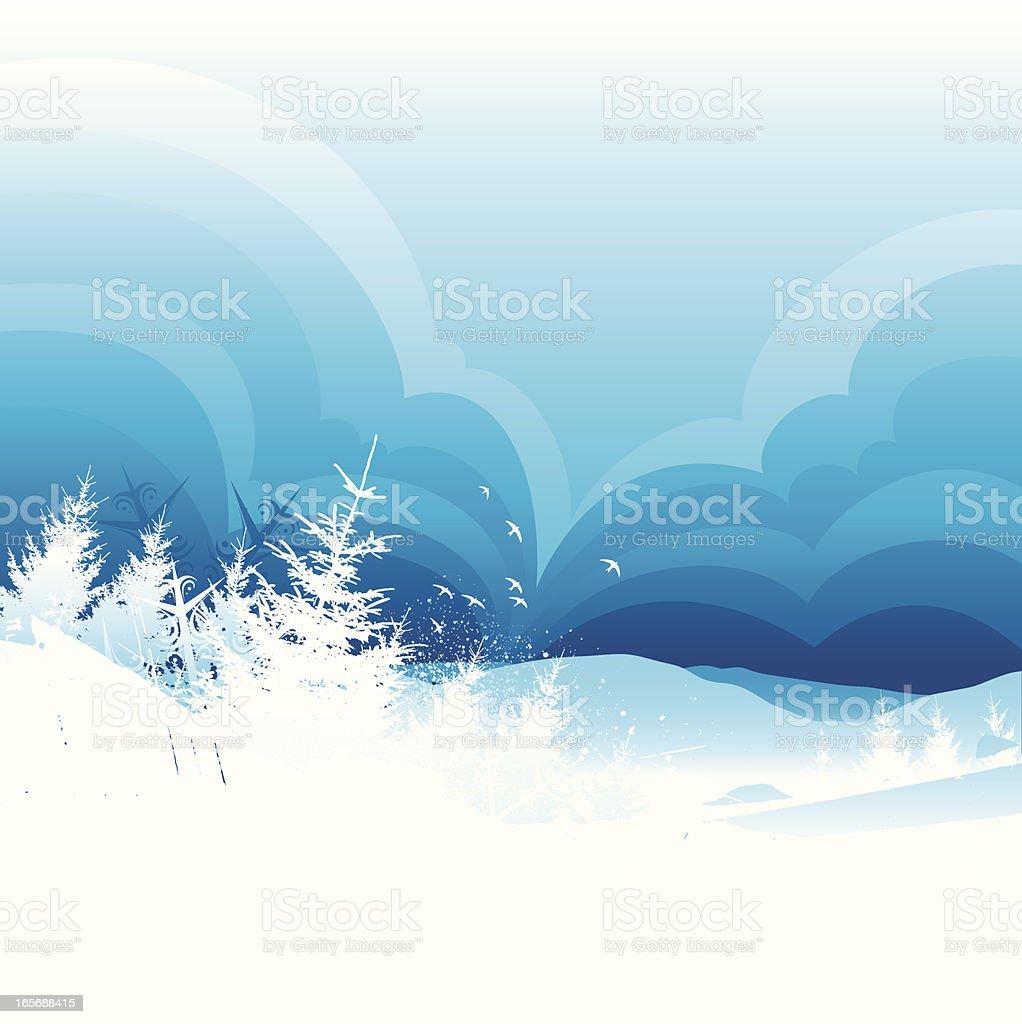 Winter fields royalty-free stock vector art