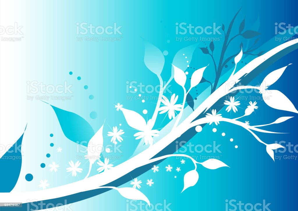 Winter Floral royalty-free stock vector art
