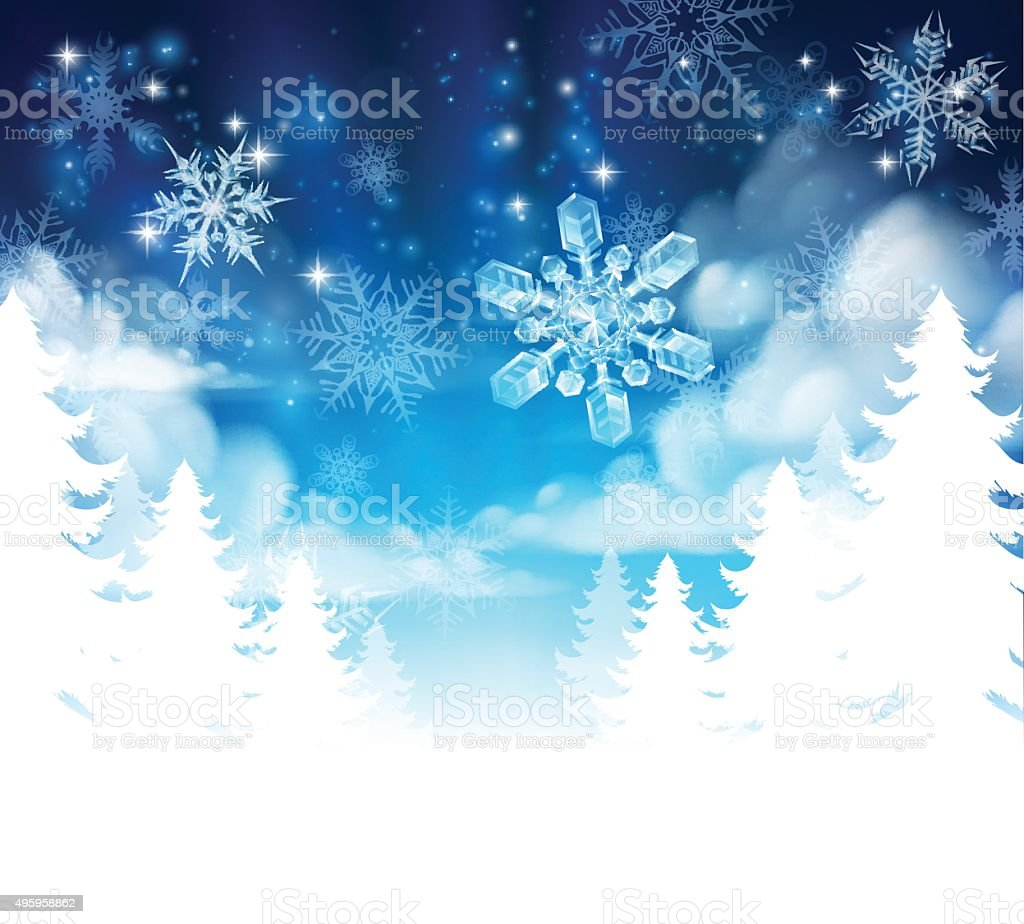 Background image header - Winter Forest Background Header Royalty Free Stock Vector Art