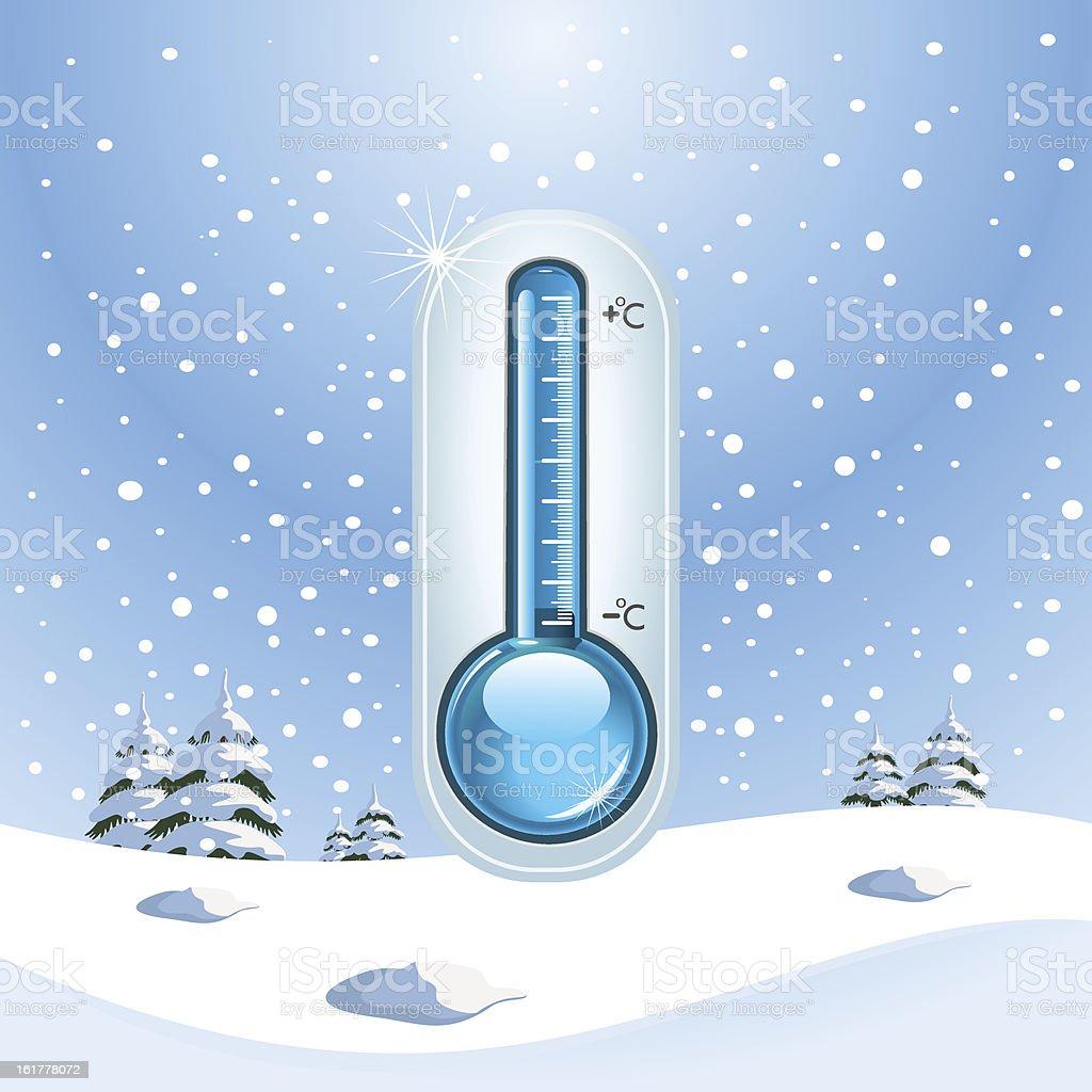 Winter Freeze Concept royalty-free stock vector art
