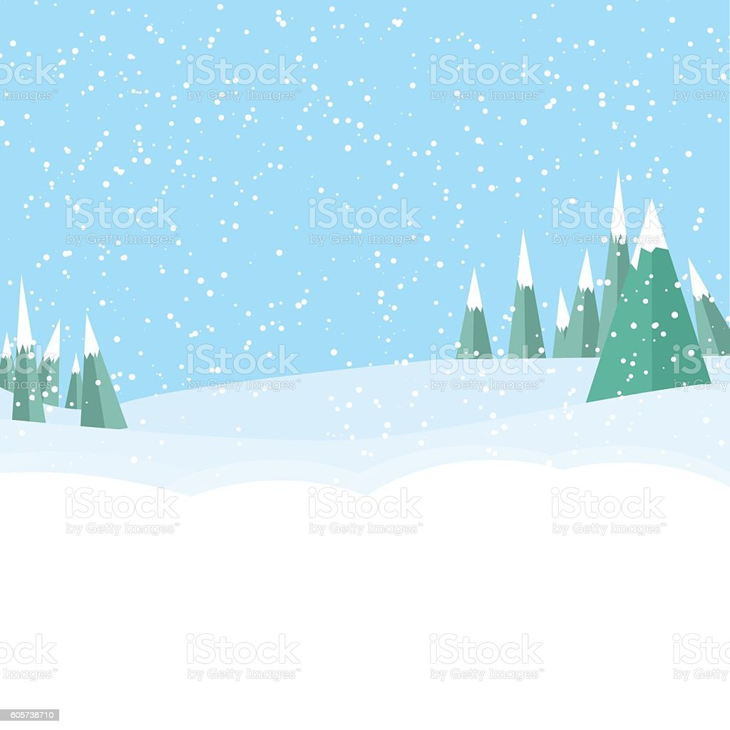 winter game landckape background vector art illustration