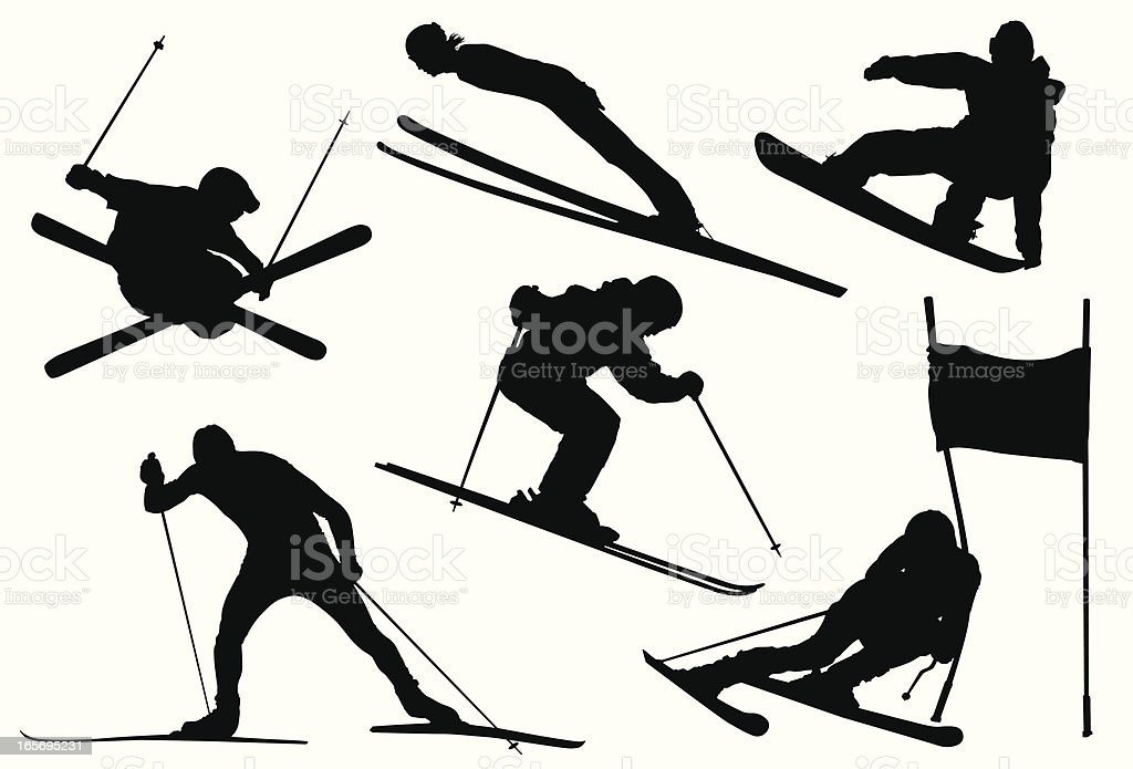 Winter Olympic Games vector art illustration