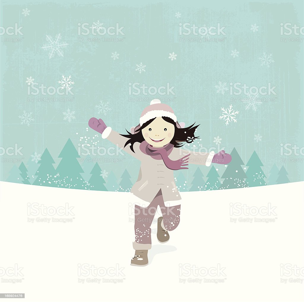 Winter Girl royalty-free stock vector art