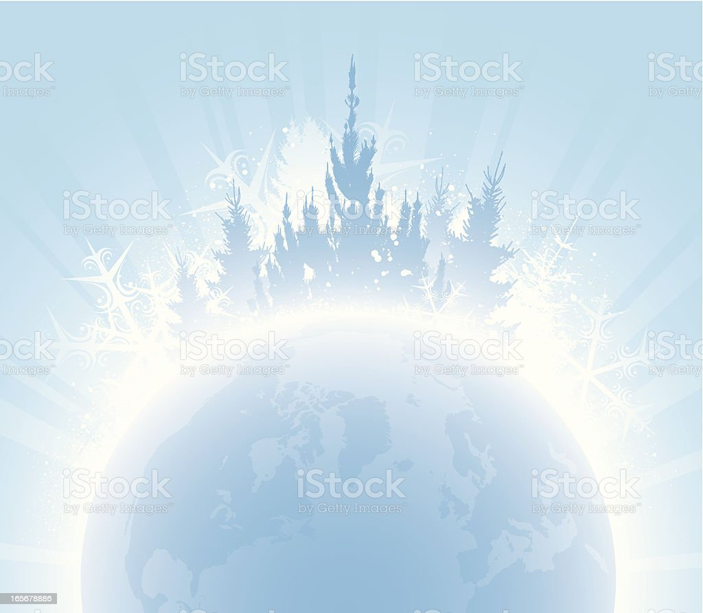 Winter globe royalty-free stock vector art