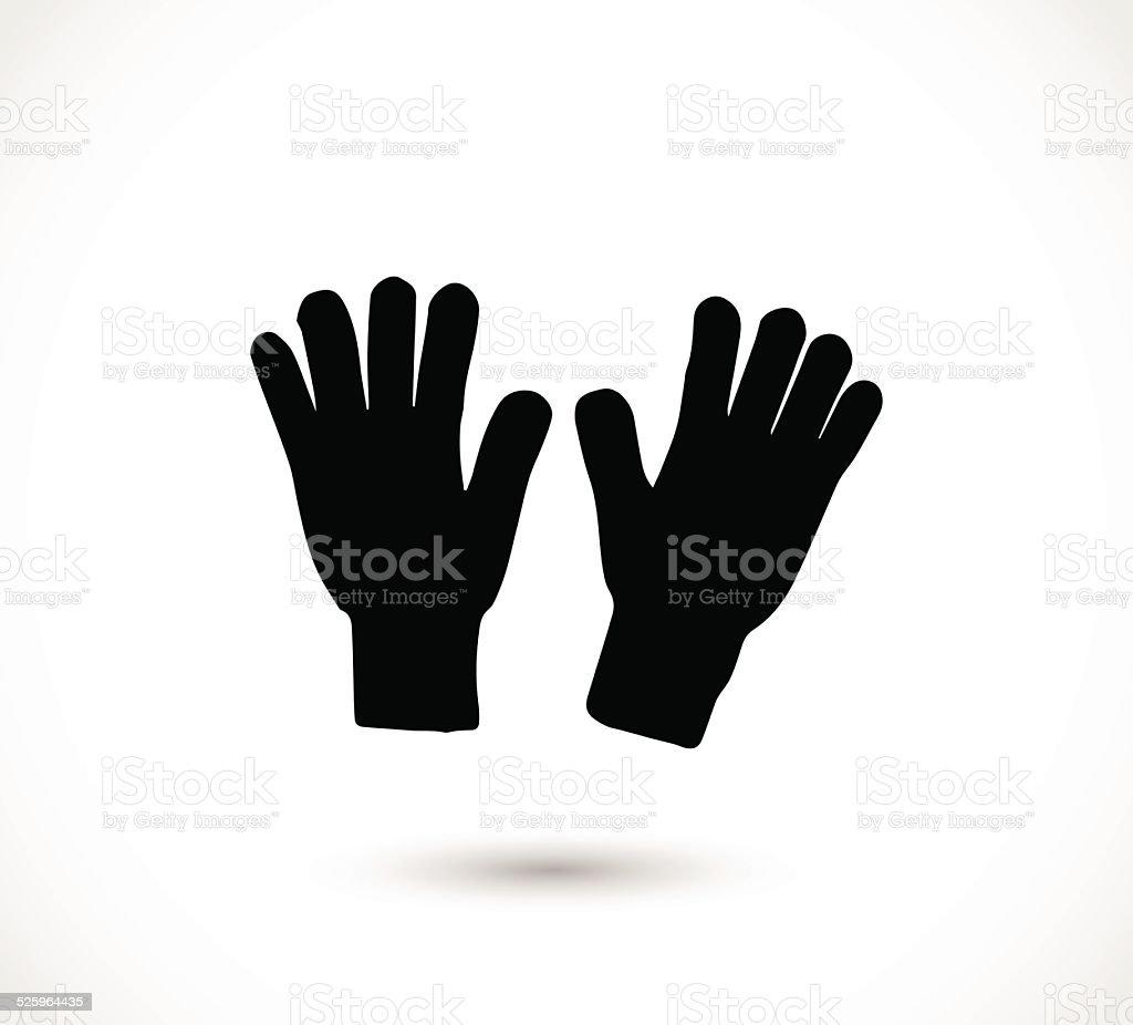 Winter gloves icon vector vector art illustration