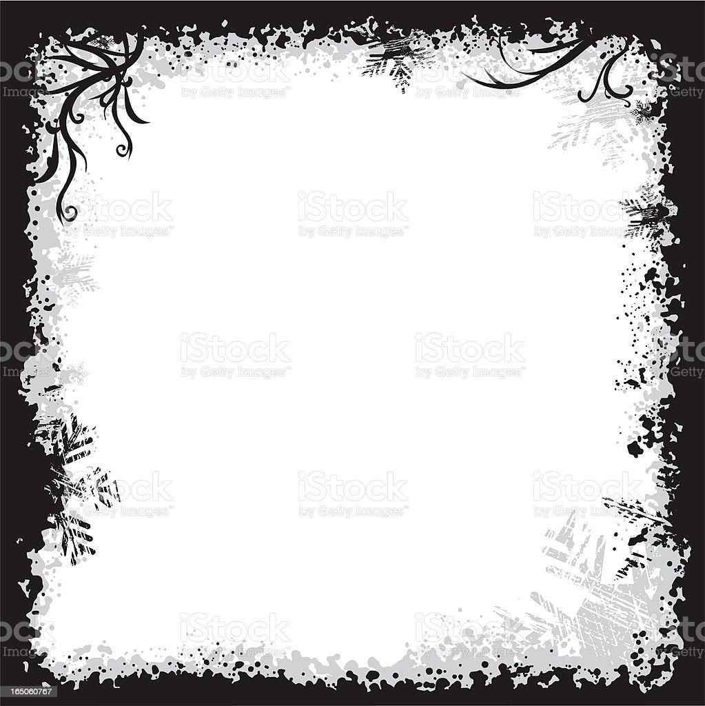 Winter Grunge Frame royalty-free stock vector art