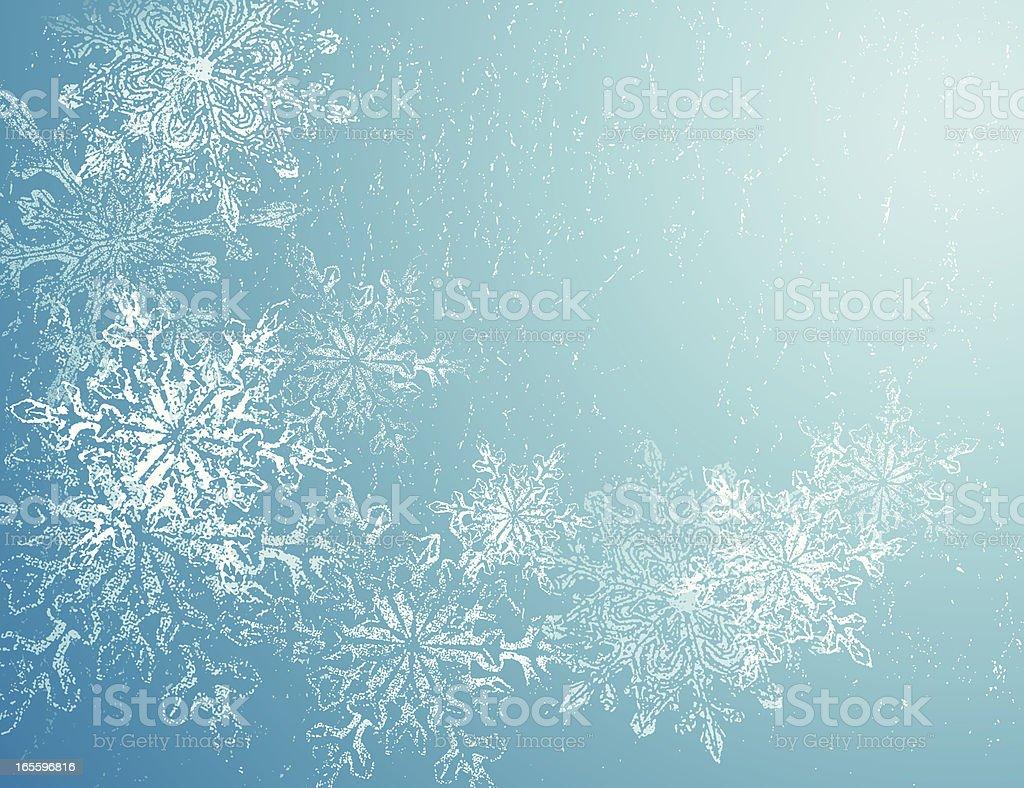 Winter grunge royalty-free stock vector art