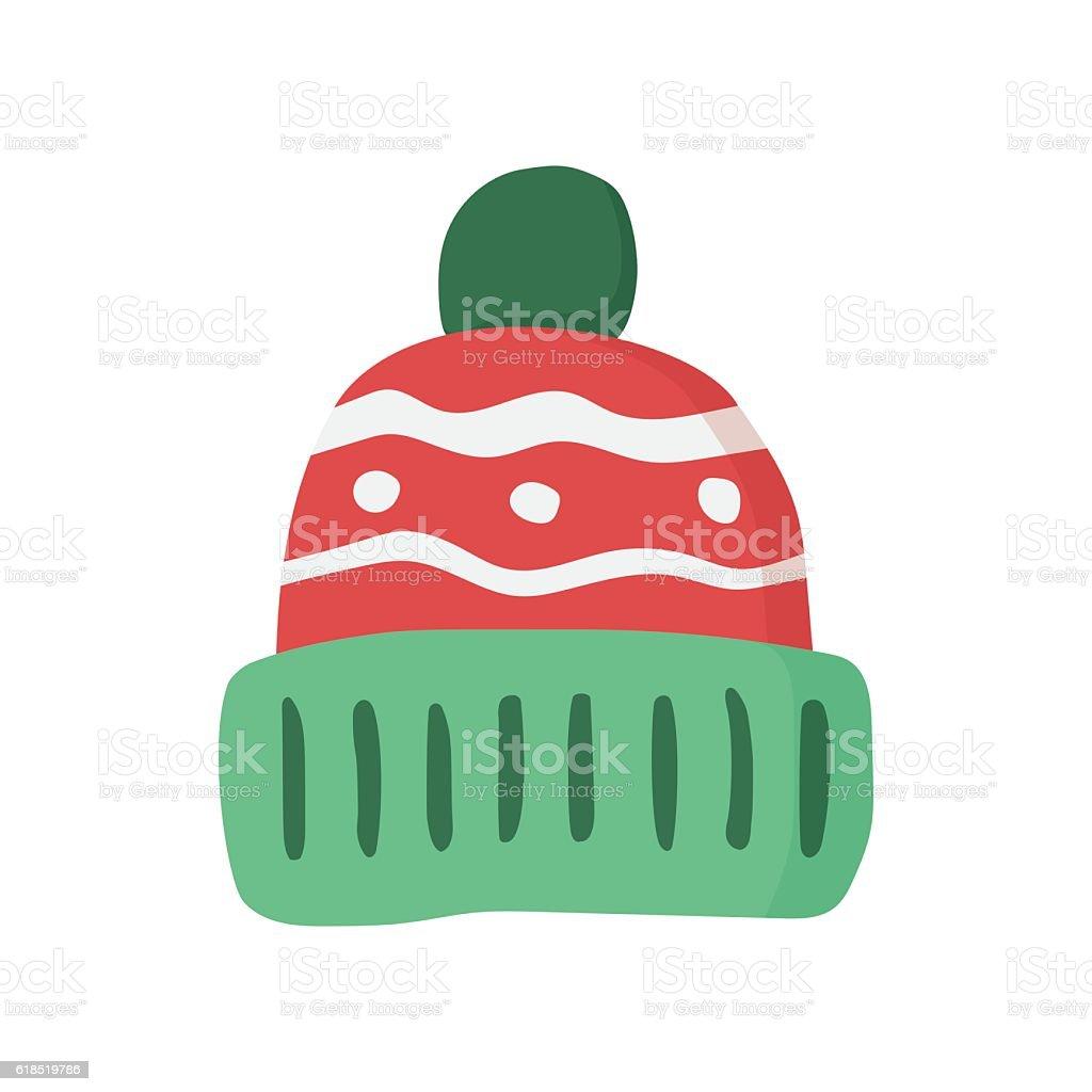 Winter hat icon vector art illustration