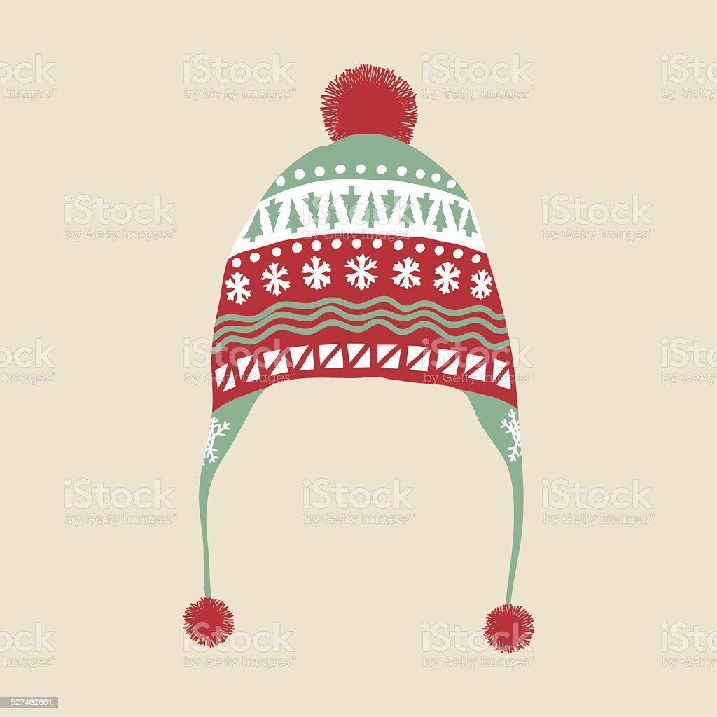 Winter Hat vector art illustration