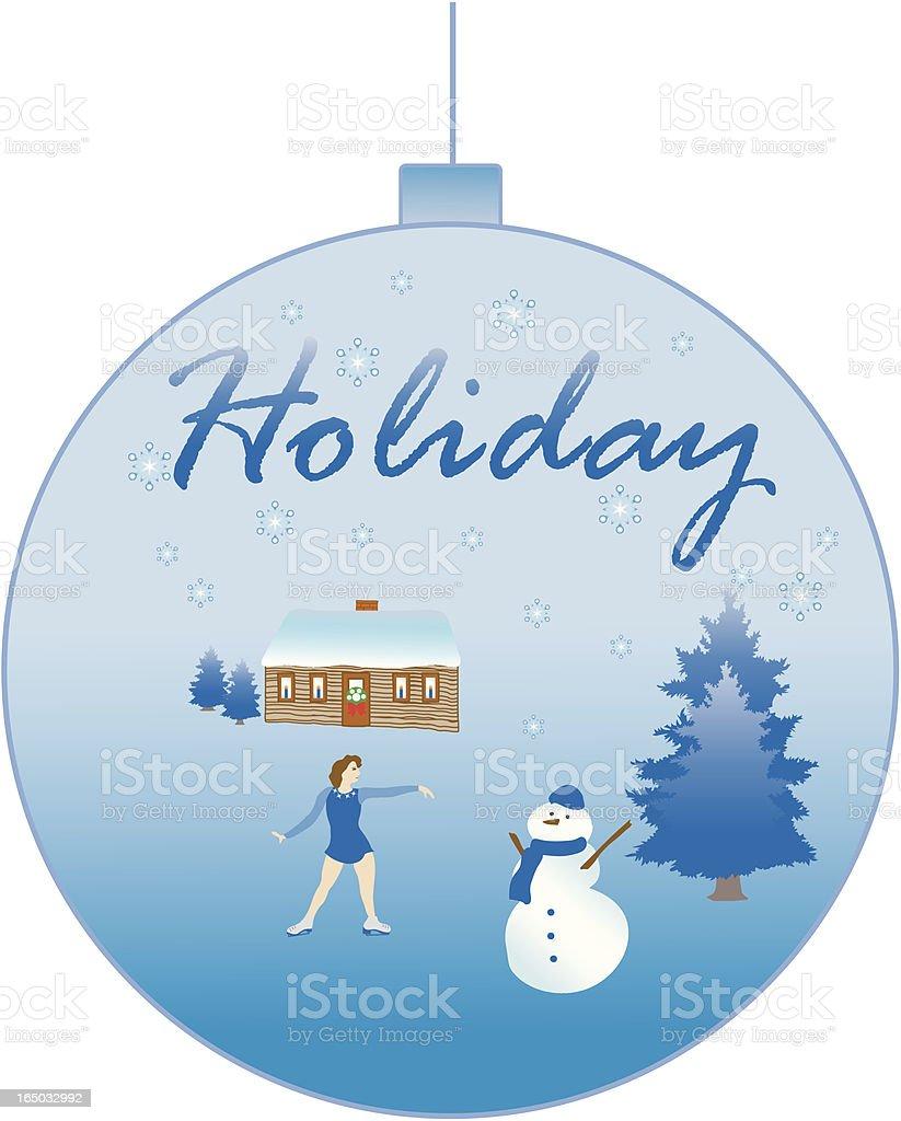 Winter Holiday Ornament vector art illustration
