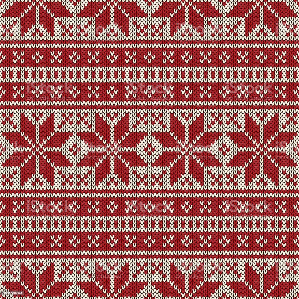 Winter Holiday Seamless Knitted Pattern vector art illustration