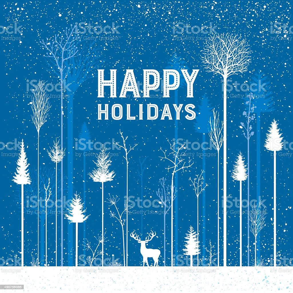 Winter Holiday Season vector art illustration