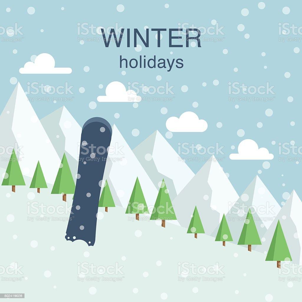 Winter holidays vector illustration vector art illustration