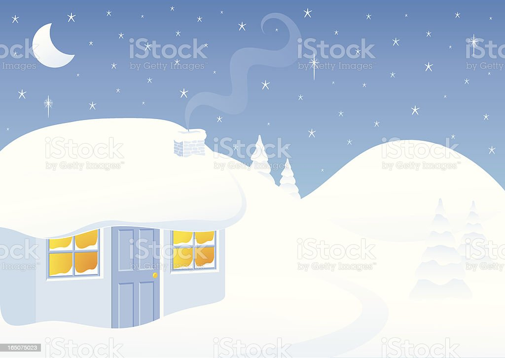 Winter House - incl. jpeg royalty-free stock vector art