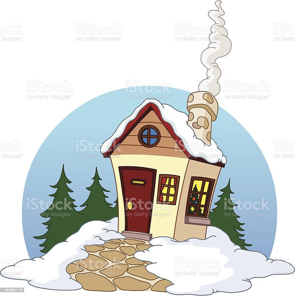 Winter house royalty-free stock vector art