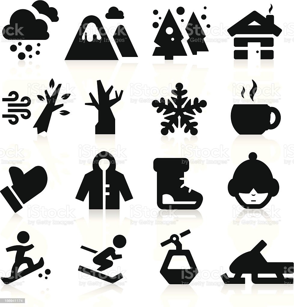 Winter icons royalty-free stock vector art