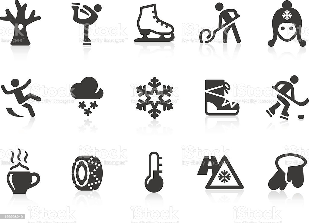 Winter icons vector art illustration