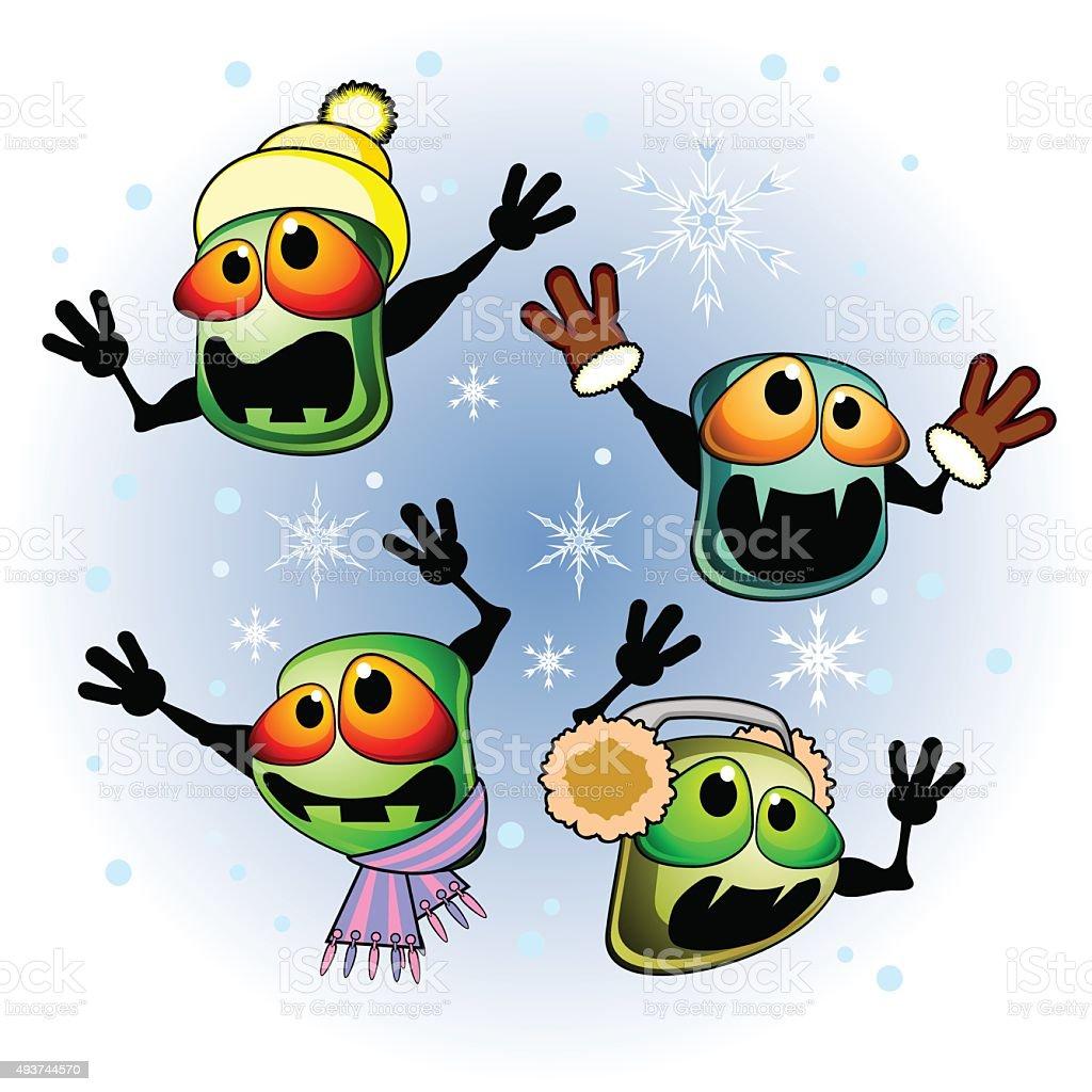 Winter infection vector art illustration