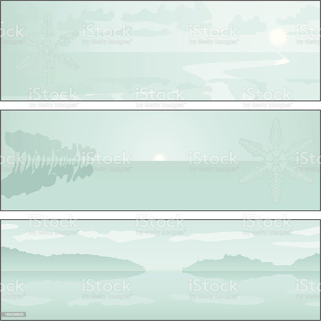 Winter Landscape 02 royalty-free stock vector art