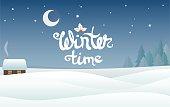 winter landscape vector background