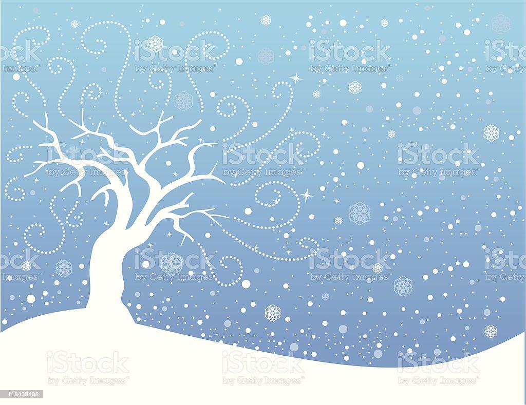 Winter landscape royalty-free stock vector art