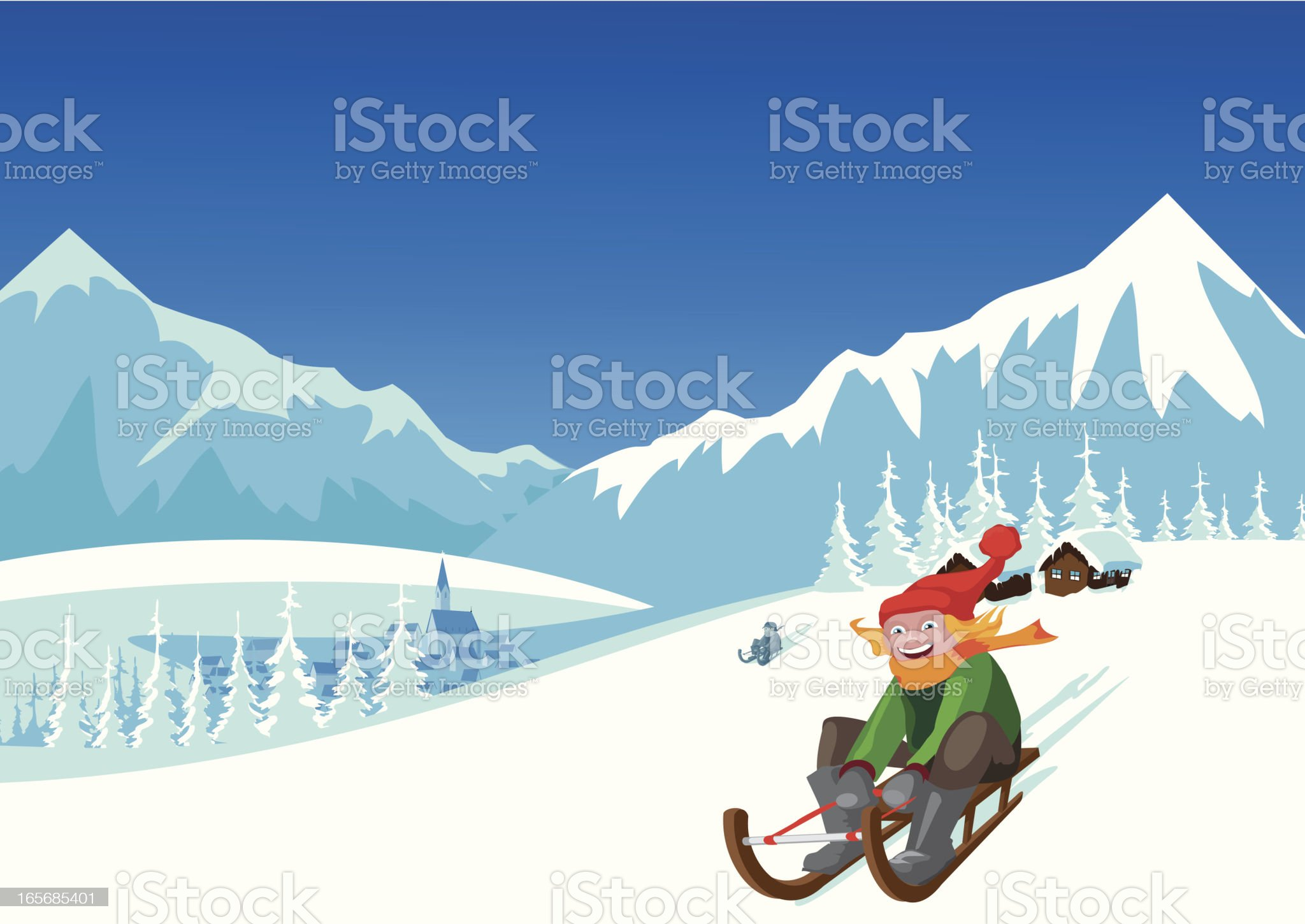 winter landscape royalty-free stock vector art