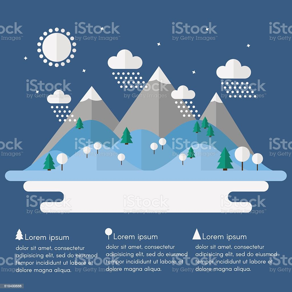 Winter landscape. vector art illustration