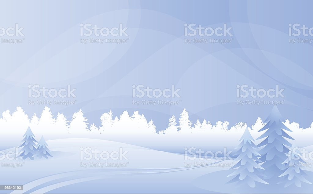 Winter landscape. royalty-free stock vector art