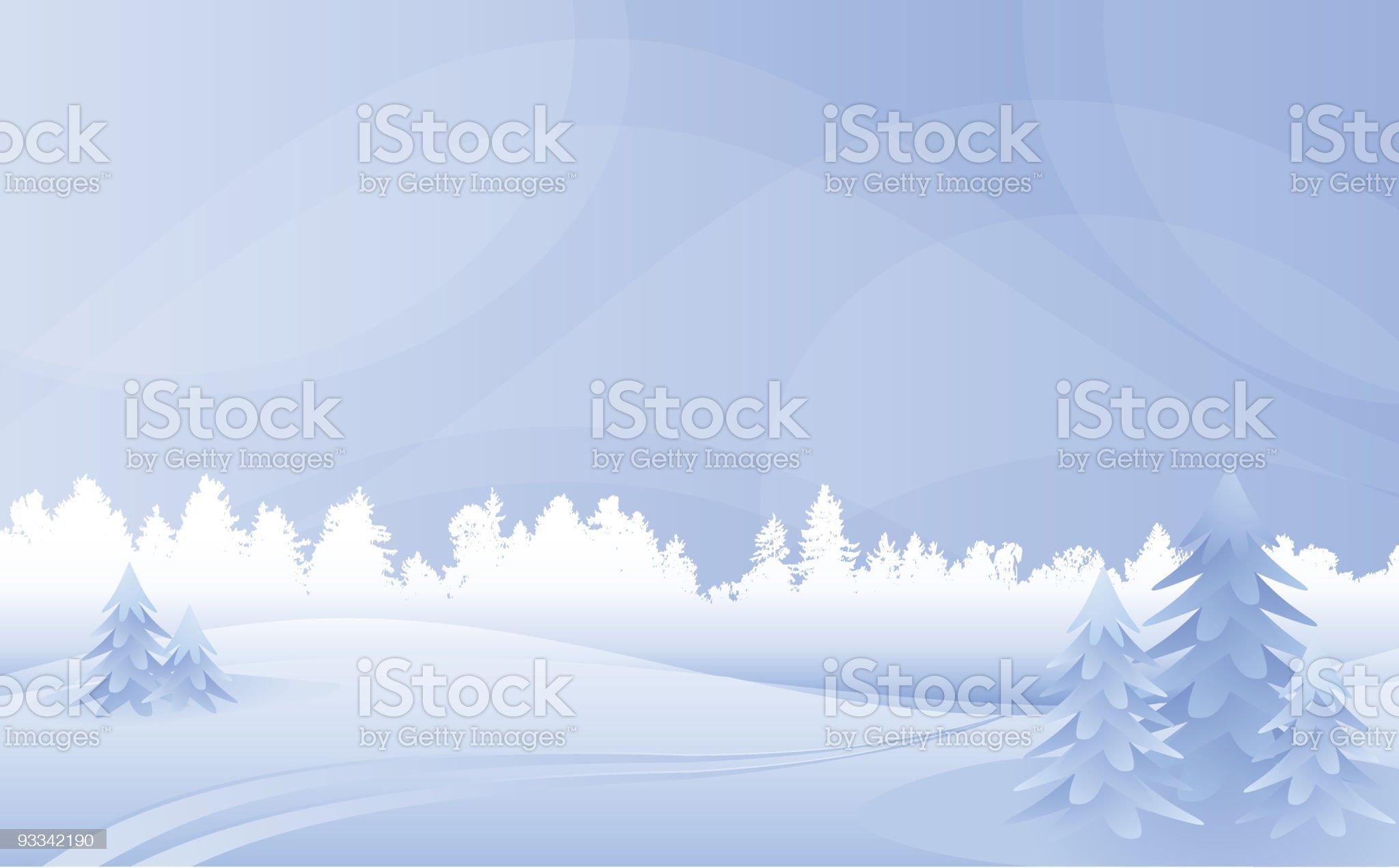 Winter landscape. royalty-free stock vector art