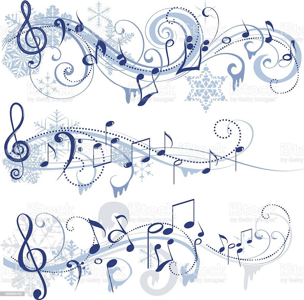 Winter music royalty-free stock vector art