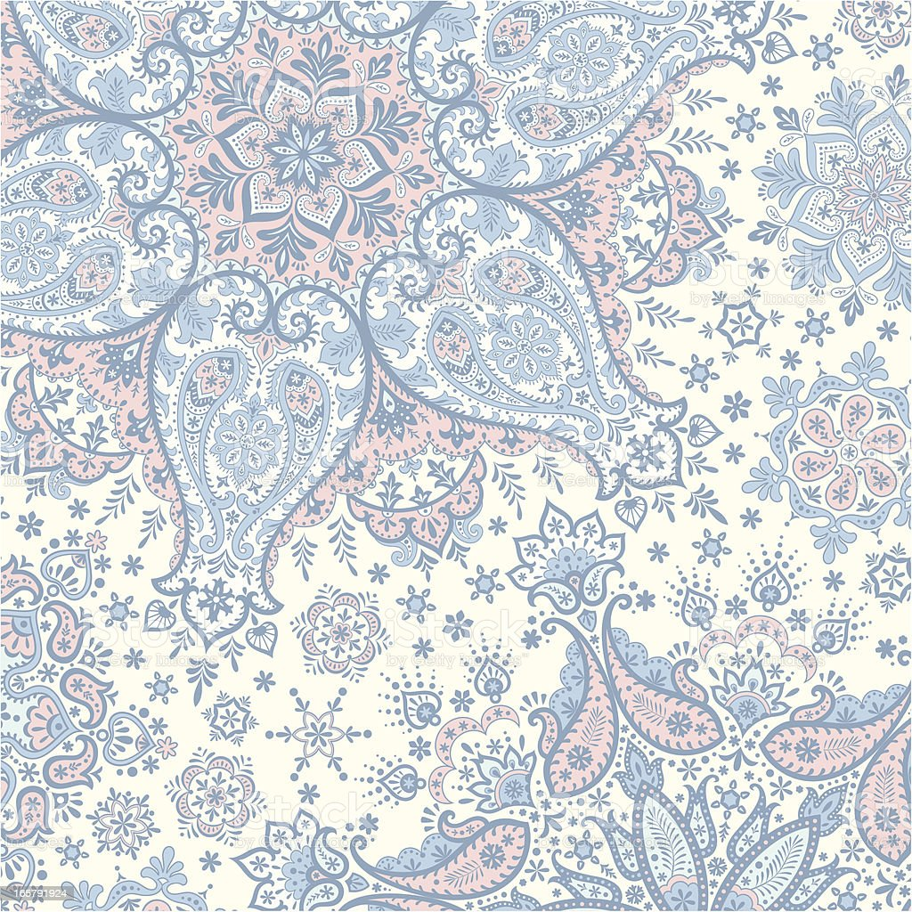 Winter Paisley Background royalty-free stock vector art