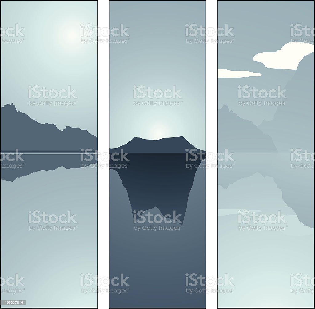 Winter Panel 03 royalty-free stock vector art